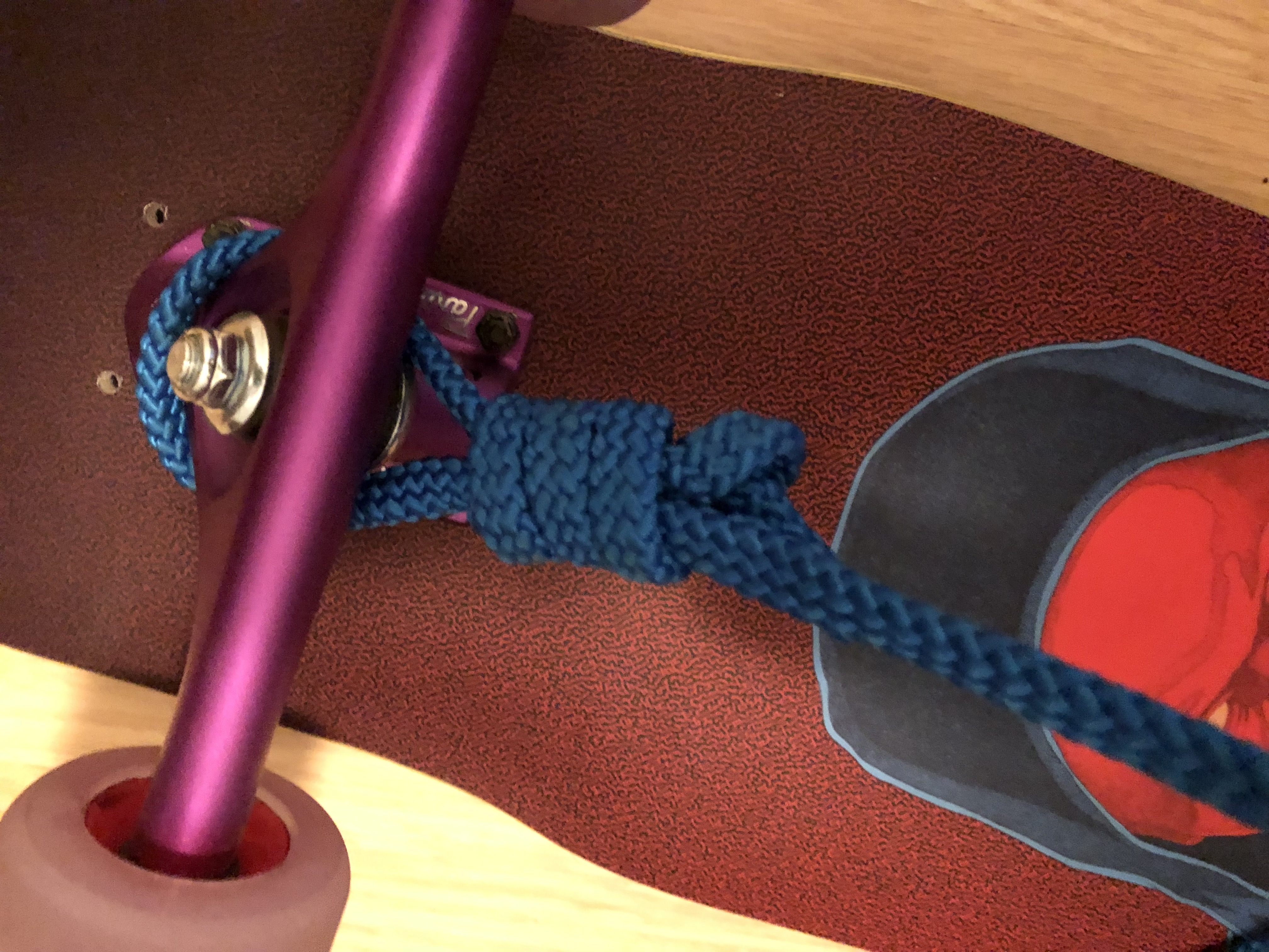 knots for a longboard carrying system
